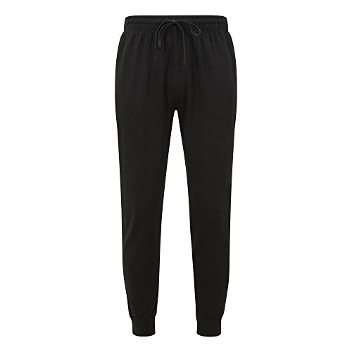 Anvil Unisex Light Terry Jogging Bottoms (M) (Black)