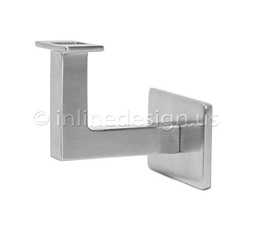 Stainless Steel Handrail Wall Bracket Square for Flat Bottom Tube (Ladder Wall Brackets)