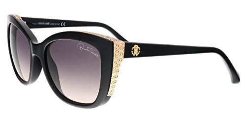 Roberto Cavalli Men's Designer Sunglasses , Shiny Black/Gradient Smoke, - Sunglass Cavalli
