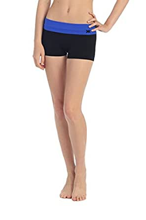 Contrasting Foldover Waist Boy Shorts Women's One Size Fits Most