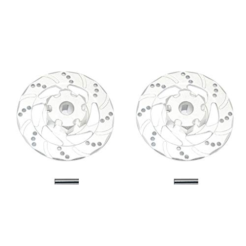Hoolick,2 Pcs +1mm Hex Brake Disc Rotor Anti Rust for Traxxas Udr 1/7 Rc Unlimited Desert Racer ()