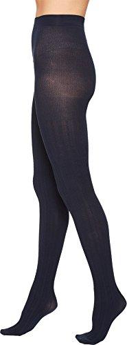 PACT Women's Organic Cotton Chevron Tights, Chevron Navy, Medium/Large Textured Cotton Tights