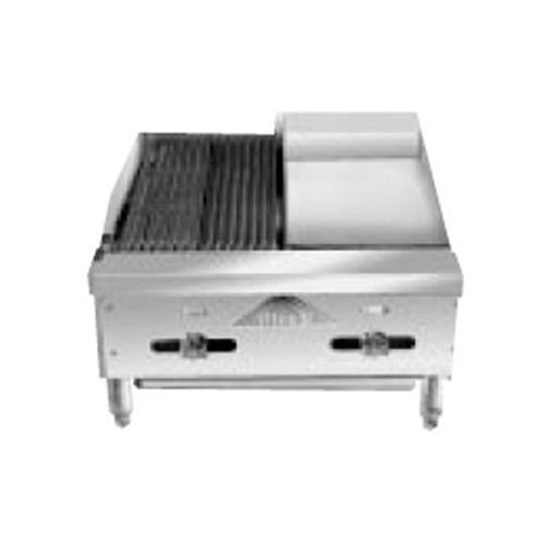 (Comstock Castle FHP24-12-1RB Gas Radiant Char Broiler & Griddle Combo Unit)