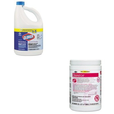 KITCOX30966CTCOX69150 - Value Kit - Clorox Hospital Cleaner Disinfectant Towels (COX69150) and Clorox Germicidal Bleach (COX30966CT) by Clorox