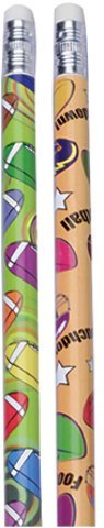 Football Pencils,pack of 12