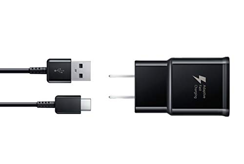 Samsung Fast Charge USB-C 15W Wall Charger - Black- Galaxy Note8, Galaxy S8, and Galaxy S8+ Inbox Replacement - Retail Packaging (Renewed) ()