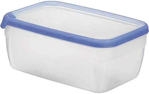 Azul Pl/ã/¡Stico 8x8x4.7 cm CURVER Bote herm/ético Redondo 0,25L Grand Chef