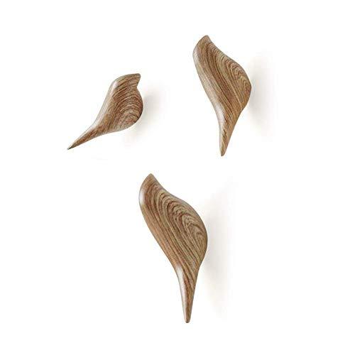 - APSOONSELL Bird Coat Hooks Wall Mounted Rustic Wooden Hook Hanger, 2Pcs