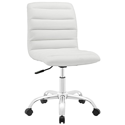 Modway Ripple Armless Mid Back Office Chair in White