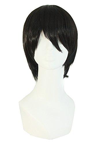 MapofBeauty Fashion Men's Short Straight Wig -