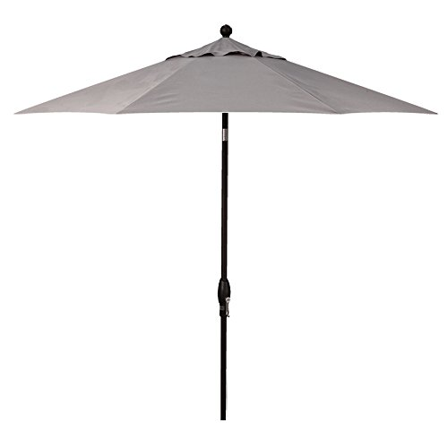Treasure Garden 9-Foot (Model 920) Push Button-Tilt Market Umbrella with Black Frame and Obravia2 Fabric: Boulder