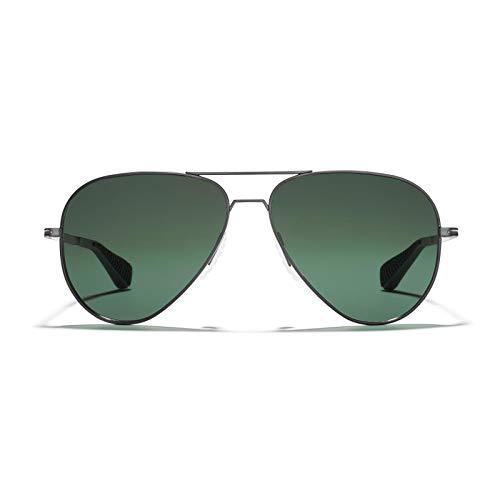 ROKA Phantom Ti Performance Polarized Aviator Sunglasses for Men and Women - Gunmetal Frame - Ranger Polarized Lens - 59]()