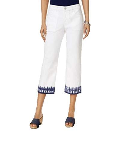 Style & Co. Dyed-Hem Capri Jeans (Bright White, 16) ()