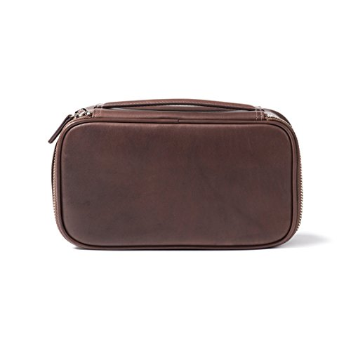 Leatherology Medium Travel Organizer - Full Grain German Leather Leather - Mahogany (brown) by Leatherology