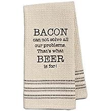 Mona B Bacon & Beer Dish Towel – Set of 2