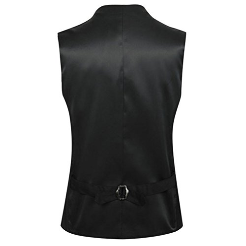 Moda Mens Skinny Blazer Tops Suit Dress negro Vest Soft Zhhlaixing Sleeveless Vest suave Formal Ewq8Exvd