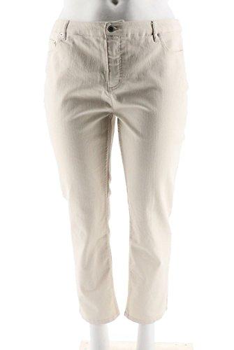 Liz Claiborne Ladies Jeans - Liz Claiborne NY Jackie Ankle Length Jeans A264119, White Sand, 16