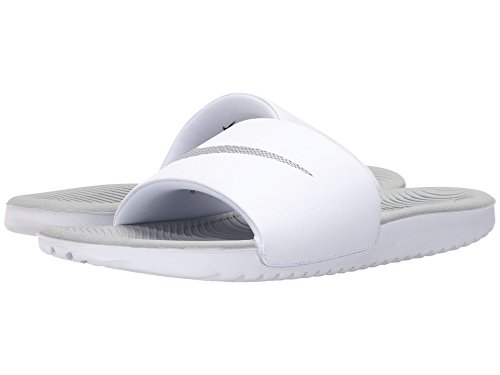 (ナイキ) NIKE レディースサンダル?靴 Kawa Slide White/Metallic Silver 9 (26cm) B - Medium