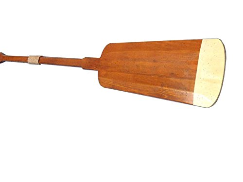 Wooden Hamilton Squared Rowing Oar Wall Decor with Hooks