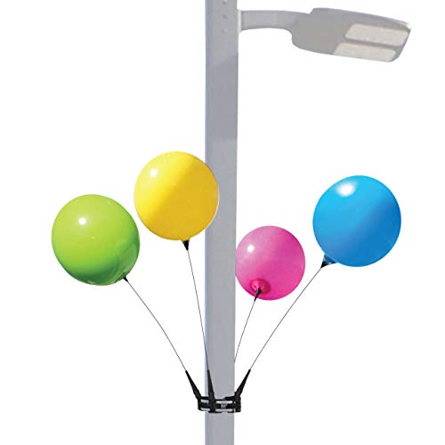 Balloon Bobber - Weatherproof Reusable Seamed Balloon 4-Pack Light Pole Kit - Helium Free Plastic Outdoor Balloons -
