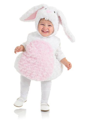 Baby Bunny Costumes (Underwraps Baby's Rabbit Belly-Babies, White/Pink, Medium)