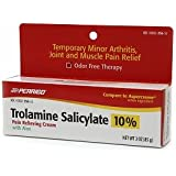Perrigo Trolamine Salicylate 10% Pain Relieving Cream with Aloe, 3 oz