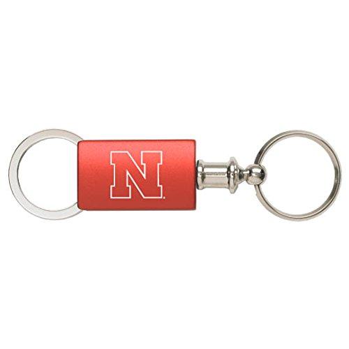 University of Nebraska - Anodized Aluminum Valet Key Tag - Red - Huskers Keychain