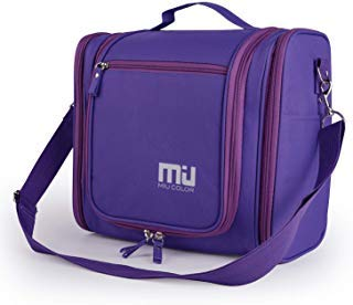 MIU COLOR Waterproof Hanging Toiletry Kit, Portable Travel Organizer Cosmetic Toiletry Bag for Bathroom Accessories and Personal Items, Makeup, and Shaving Kits ()