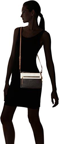 Noir Sacs Fossil Ew Black White Crossbody nbsp; Fiona bandoulière Damentasche 1q410R