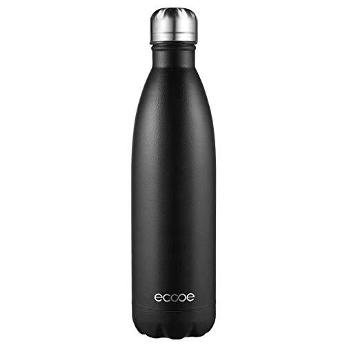 Botella térmica 750ml, Ecooe frasco de vacío del vacío de la botella del agua del acero inoxidable de la botella de...