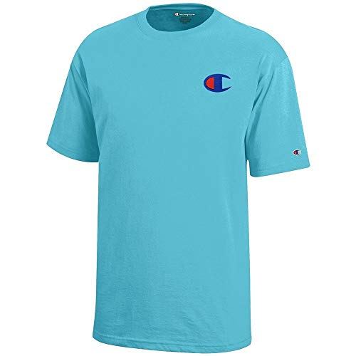 Champion Reverse Weave Logo Youth (Turq Waters) Short Sleeve T-Shirt ()