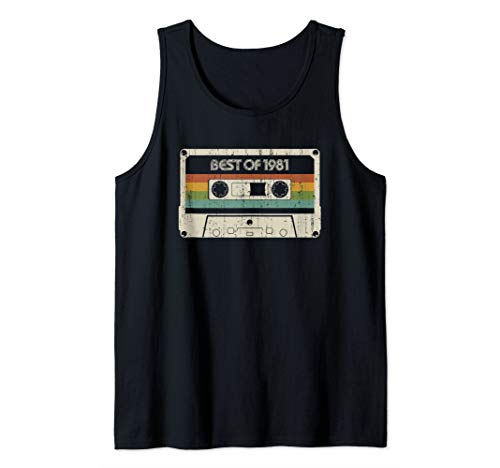 Vintage Best of 1981 38th Birthday Cassette Tank Top