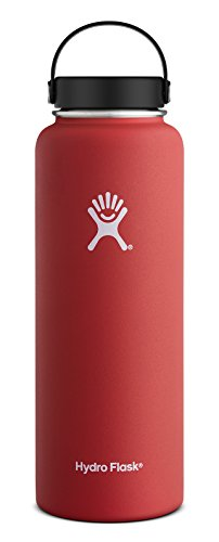 Hydro Flask 40 oz Double Wall Vacuum Insulated Stainless Steel Leak Proof Sports Water Bottle, Wide Mouth with BPA Free Flex Cap, (Durable Black And White Powder)