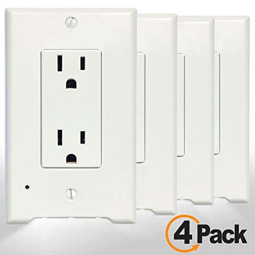 4pack Decora Led Night Light Wall Outlet Cover Plate Easy Import It All
