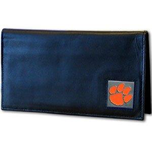 - Siskiyou NCAA Clemson Tigers Leather Checkbook Cover