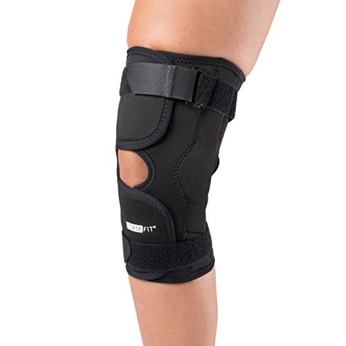 Ossur Formfit Hinged Knee Wrap (Non-ROM) - Open Patella Stabilizer for Meniscus ACL, PCL, MCL, LCL Ligament Relief Support (X-Large)