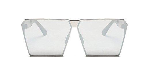 rond cercle style Lennon Mercure retro inspirées métallique en du soleil de lunettes vintage Blanc polarisées H7a4q