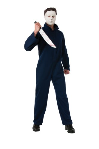 [Rubie's Costume Deluxe Halloween Michael Myers, Black, Standard Costume] (Michael Myers Costumes For Adults)