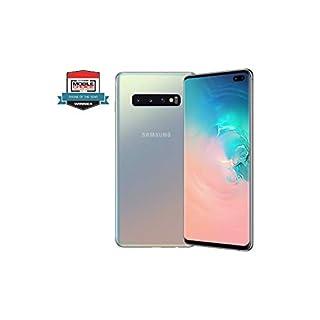 "Samsung Galaxy S10+ Plus 128GB+8GB RAM SM-G975F/DS Dual Sim 6.4"" LTE Factory Unlocked Smartphone International Model No-Warranty (Prism Silver)"