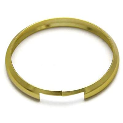 iJDMTOY Gold Finish Smart Key Fob Replacement Ring Compatible With 08-up Mini Cooper JCW R55 R56 R57 R58 R59 R60: Automotive