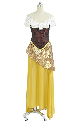 The Phantom of The Opera Cosplay Christine Daae Costume Dress XL Yellow]()
