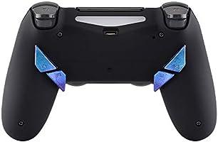 Botón Trasero K1 K2 K3 K4 Paletas para Mando PS4 Que ha Instalado eXtremeRate Dawn Remap Kit Reasignación de Botones sólidos reemplazables (Camaleónica de Azul a ...