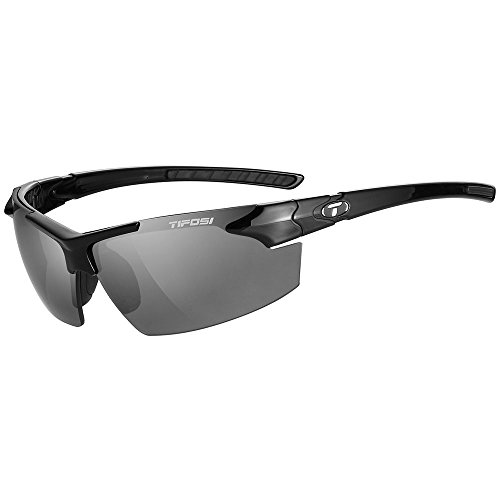 Tifosi Optics Jet FC Sunglasses Gloss Black/Smoke, One Size - - Men Budget Best Sunglasses For