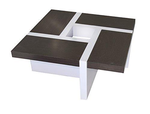 Tavolini In Legno Da Salotto : Rebecca mobili tavolino basso da salotto legno mdf bianco marrone