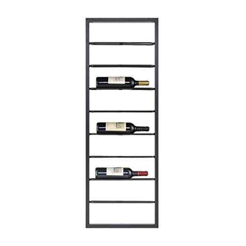 Sterling Home 3187-014 Wavertree Hanging Wine Rack in Black - Horizontal Bookcase,