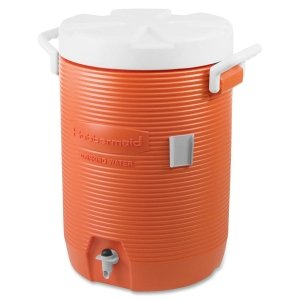 Rubbermaid Home Products 1840999 Water Coolers, 5 gal, Orange (Screw Top Cooler)