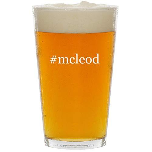 (#mcleod - Glass Hashtag 16oz Beer Pint)