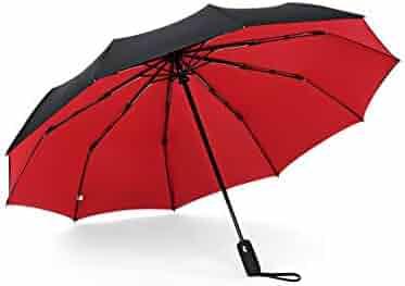 32ac454c8 10 Ribs 3 Folding Umbrella For Double Layer Fully Automatic Umbrella Busis  Windproof Sunny Rain Umbrellas