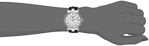 Swiss Legend Women's Layla Stainless Steel Swiss-Quartz Watch with Silicone Strap, Black, 17 (Model: 16591SM-02)