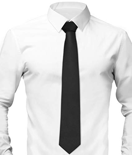 TD Garments Ties for Men - Black Tie and Pocket Square Set with Gift Box, Classic Men's Ties, Access - http://coolthings.us